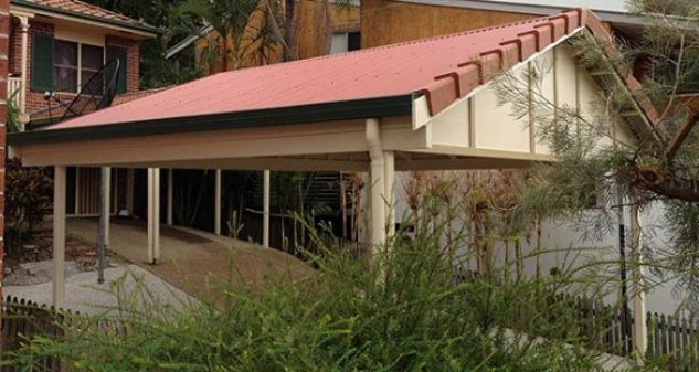 Gable Carport Designs in Brisbane, Stratco Double Carports and for Caravans. We specialise in building stylish carports in front of your home.